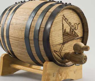 wood keg engraving